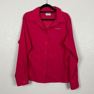 Columbia Omni Shade Long Sleeve Pink Extra Large
